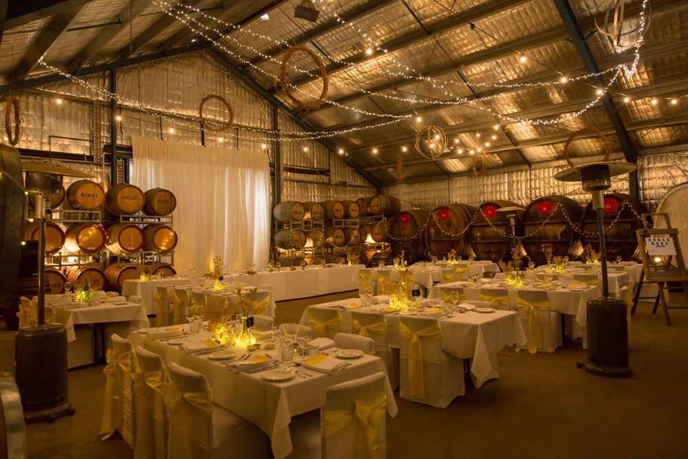 The Barrel Room set up for a wedding