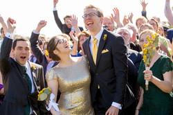 Congratulating the bride and groom