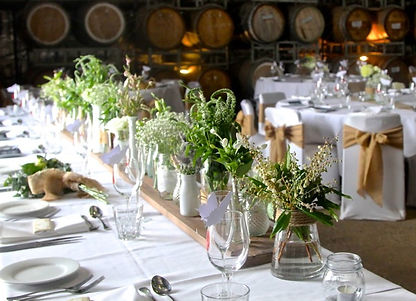 The Barrel Room set up for a beautifully simple wedding celebration