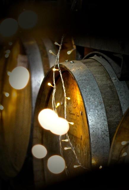 Fairy lights and barrels