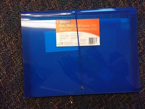 Blue plastic folios
