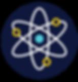 STEM HUB LOGO WITH DARK BLUE - Atom only