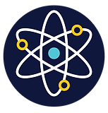 STEM HUB LOGO WITH DARK BLUE - Atom only