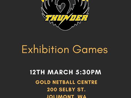 Thunder Exhibition Games & Farewell
