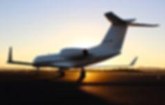 Private Jet Airport Aeroplane Sunset Run