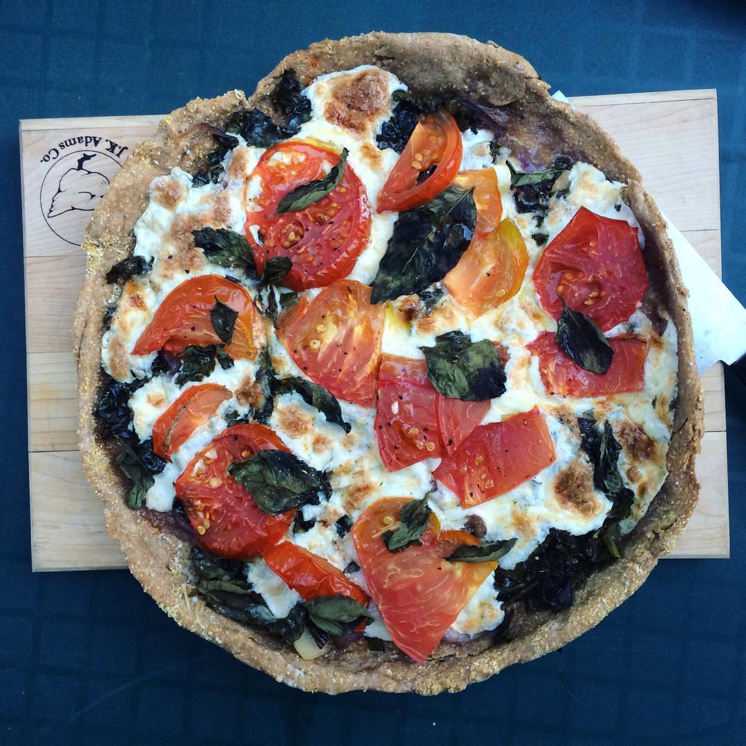 Skillet Pizza, Olive Oil Crust
