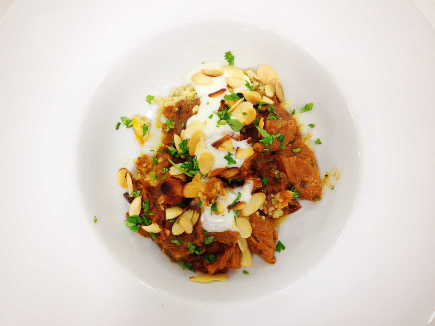 Braised Lamb with Dates and Almonds