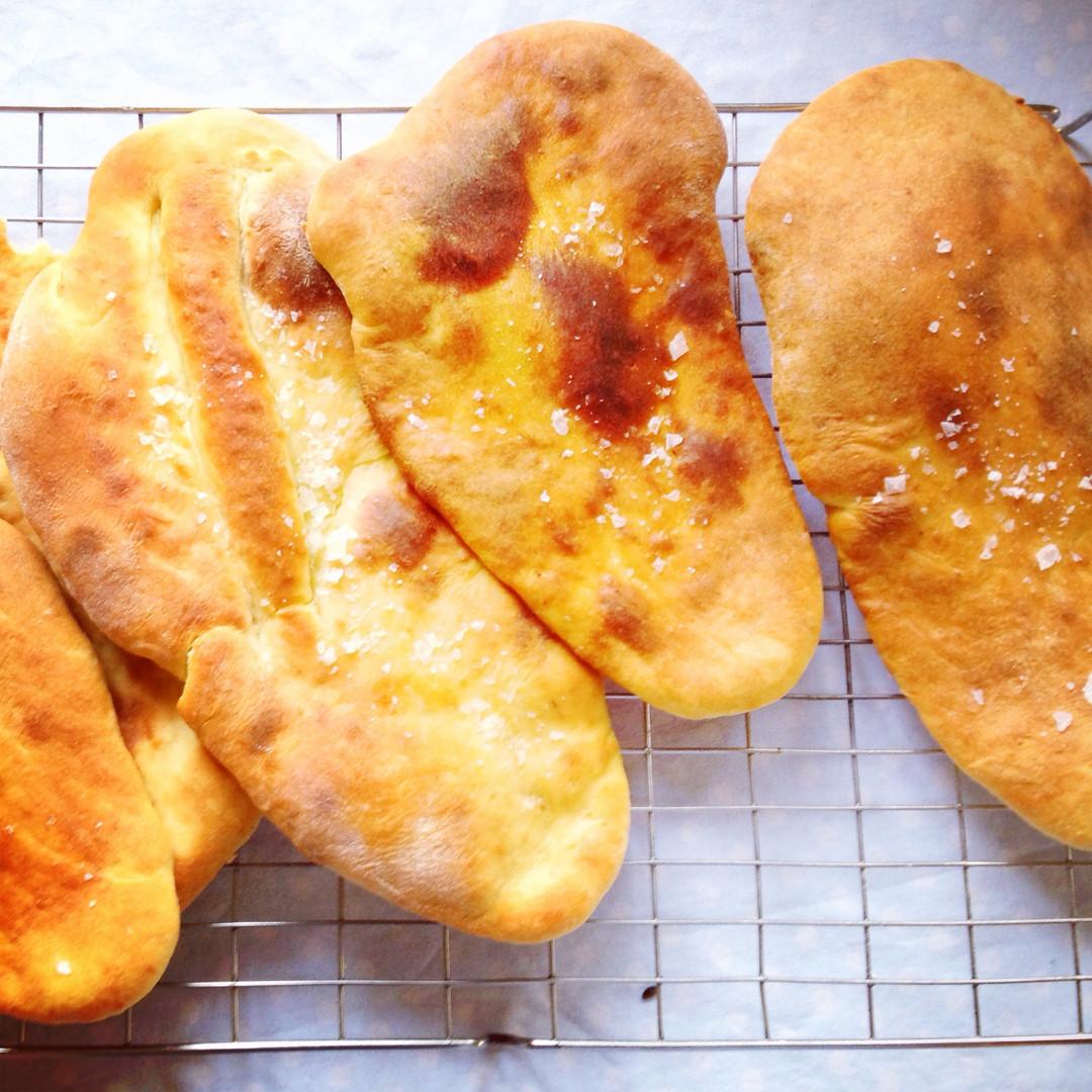 Grill Bread, Olive Oil, Salt
