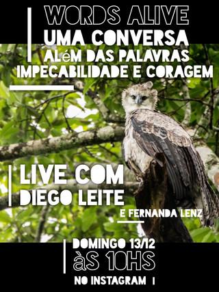 Uma Conversa Além das Palavras: Impecabilidade e Coragem com Diego Leite