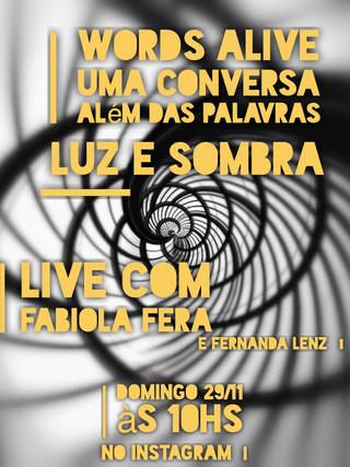 Uma Conversa Além das Palavras: Luz e Sombra com Fabiola Fera