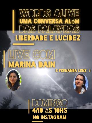 Words Alive - Uma Conversa Além das Palavras: Liberdade e Lucidez com Marina Dain