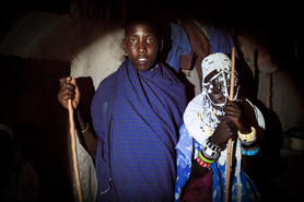 Os Noivos. Aldeia Maasai, Tanzânia 2015.