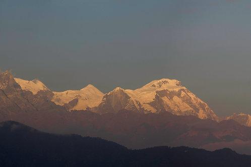 Montanhas nos Himalaias, Nepal 2018