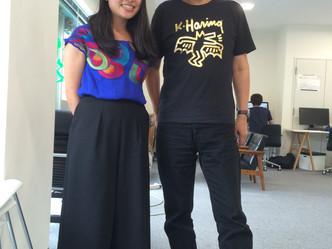 ラボで働いていた丸山美佳さんが遊びに来てくれました〜