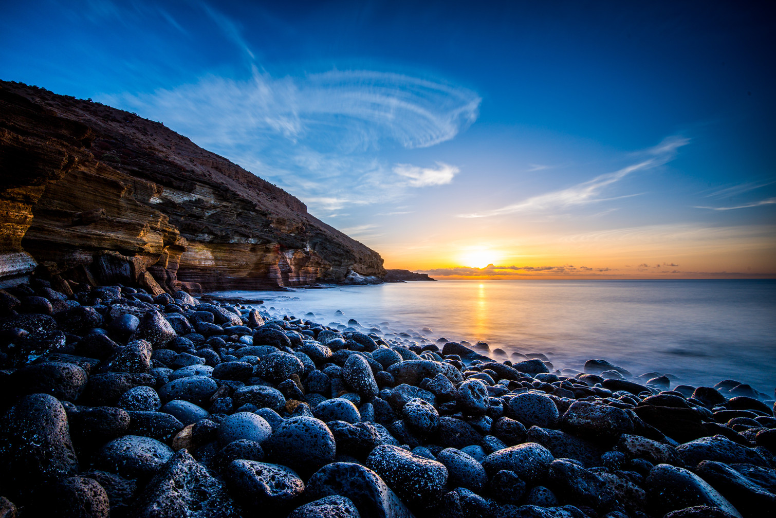 Sunrise at Playa Amarilla - Tenerife - Canary islands (Spain)