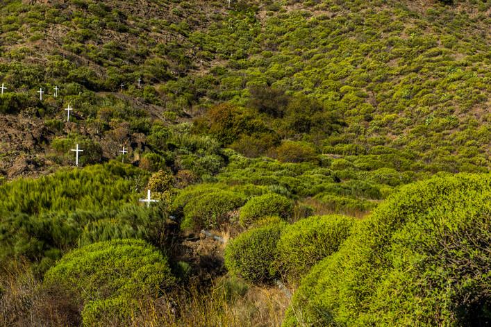 Crosses path at Santiago del Teide - Tenerife - Canary Islands (Spain)