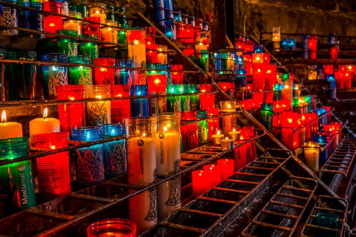 Candles at Montserrat (Spain)