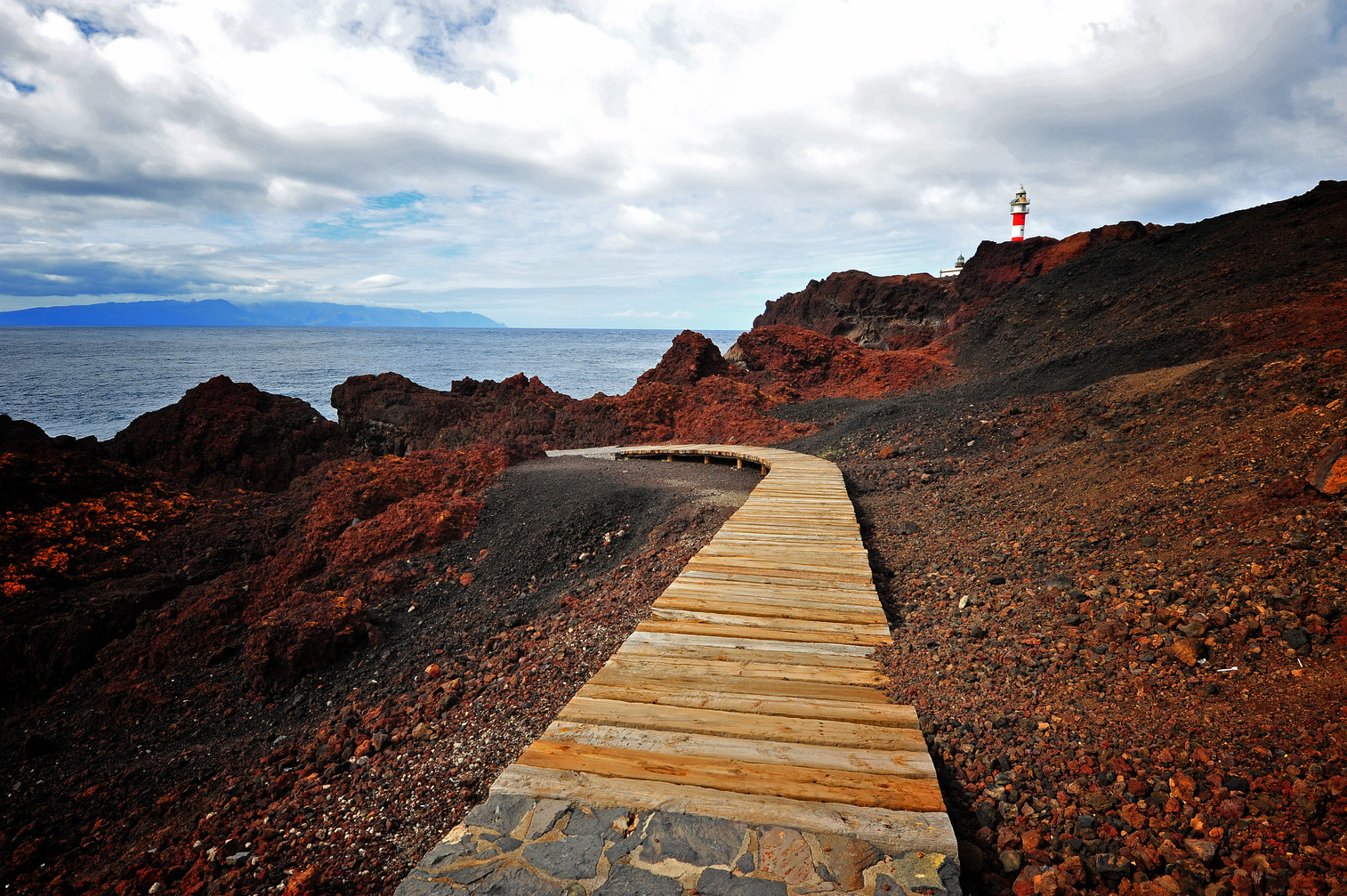 Wooden track at Punta Teno - Tenerife - Canary Islands (Spain)