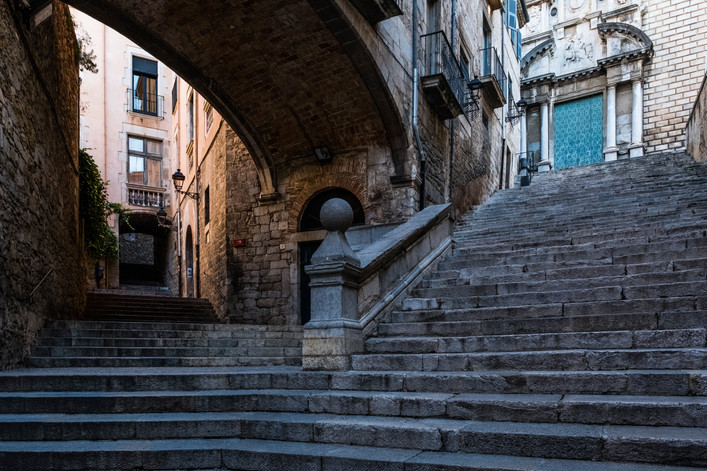 Stairs to Sant Martí Sacosta -  Girona (Spain)