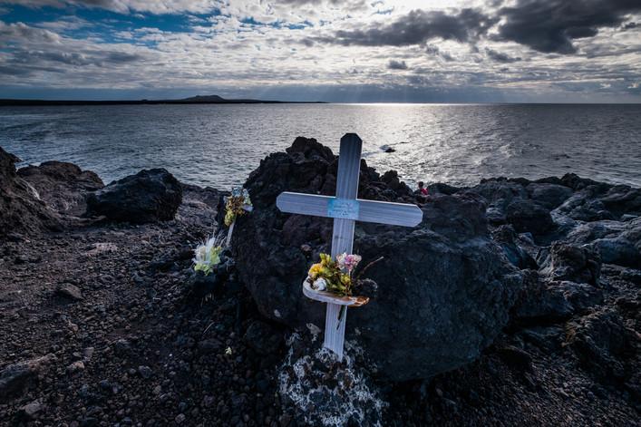 Memorial cross at Lanzarote - Canary Islands (Spain)