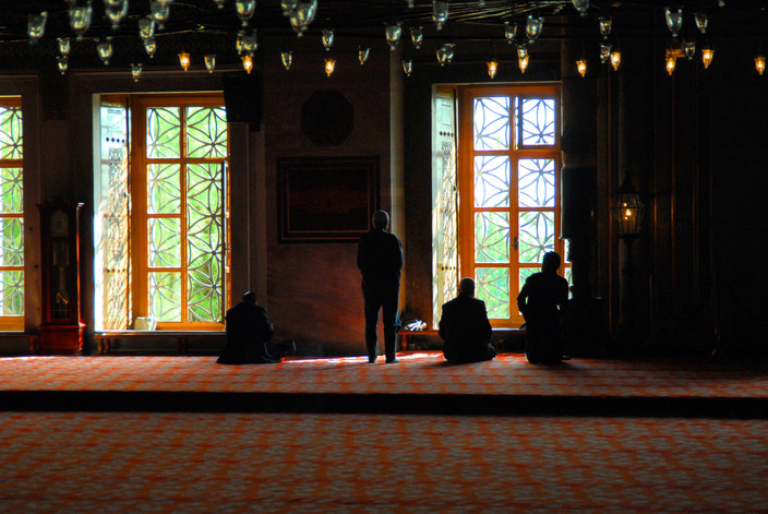 Muslim prayers at Istanbul (Turkey)