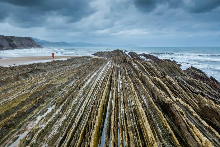Flysch Beach at Zumaia - Euskadi (Spain)