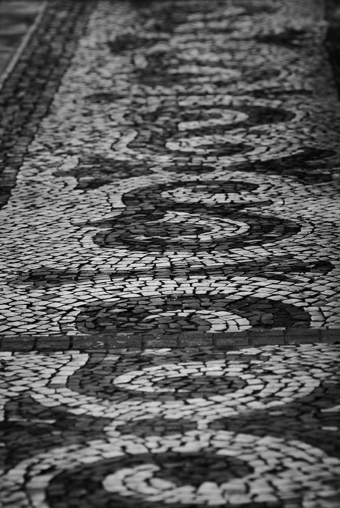 Brick path at Lisbon (Portugal)