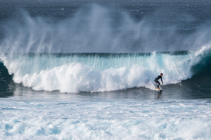 Surfers at Lanzarote - Canary Islands (Spain)
