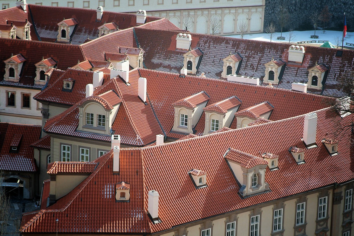 Roofs at Prague (Czech Republic)
