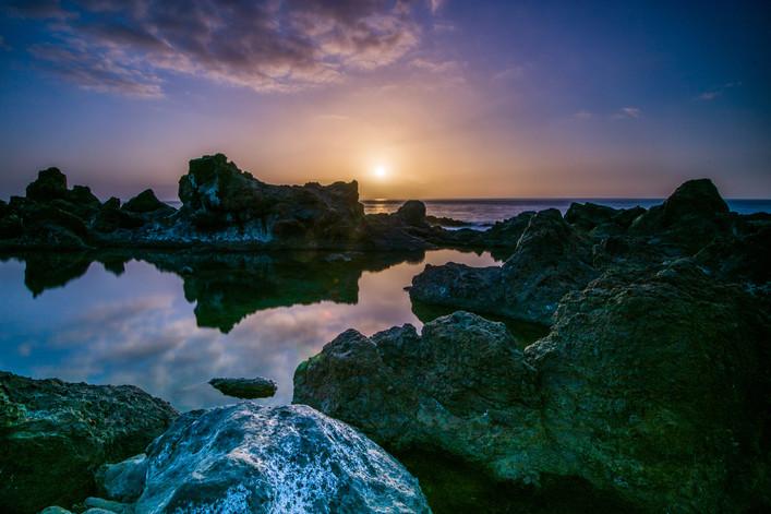 Sunset at Playa La Arena - Tenerife - Canary Islands (Spain)