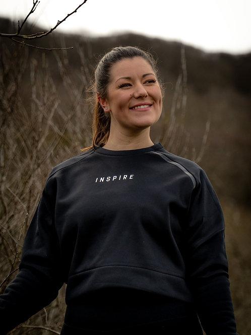 Inspire Black Cropped Sweatshirt