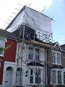 Temporary Scaffold Roof in North London