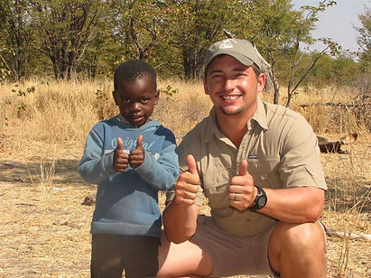 We as a team at Kalahari Outfitters try and support the community and poor people in the surrounding villages.  We try and utilize the meat hunted to supply them.  We also encourage our clients to support and join the course by bringing clothing, stationary or any other donation they feel that can help our fellow Africans.