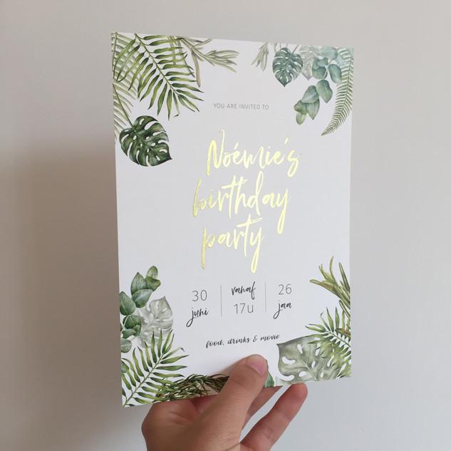 Uitnodiging Verjaardagsfeest