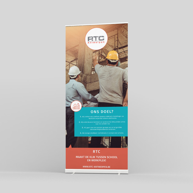 Roll Up banner RTC Antwerpen