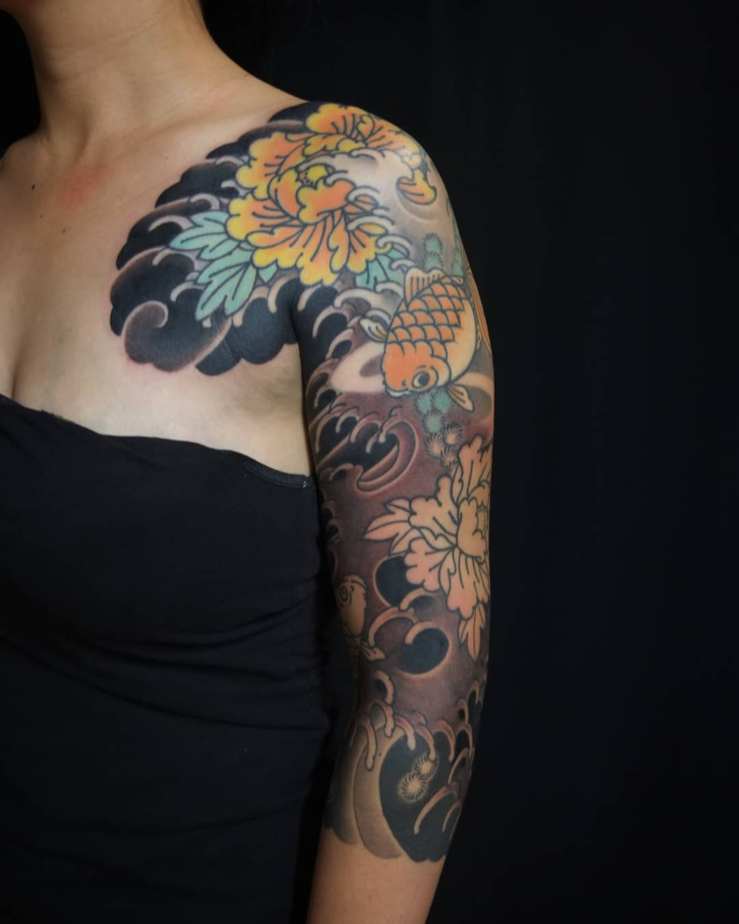 Kingyo sleeve tattoo