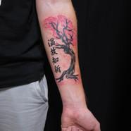 Sakura tree tattoo