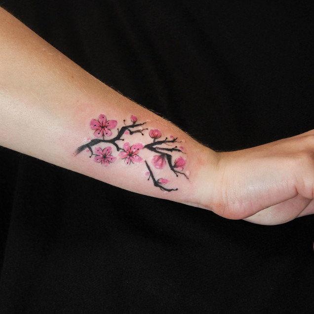 Cheery blossoms tattoo
