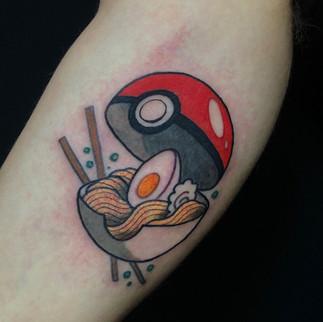 Ramen pokeball tattoo
