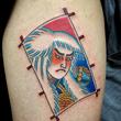 Kagamijishi kite tattoo