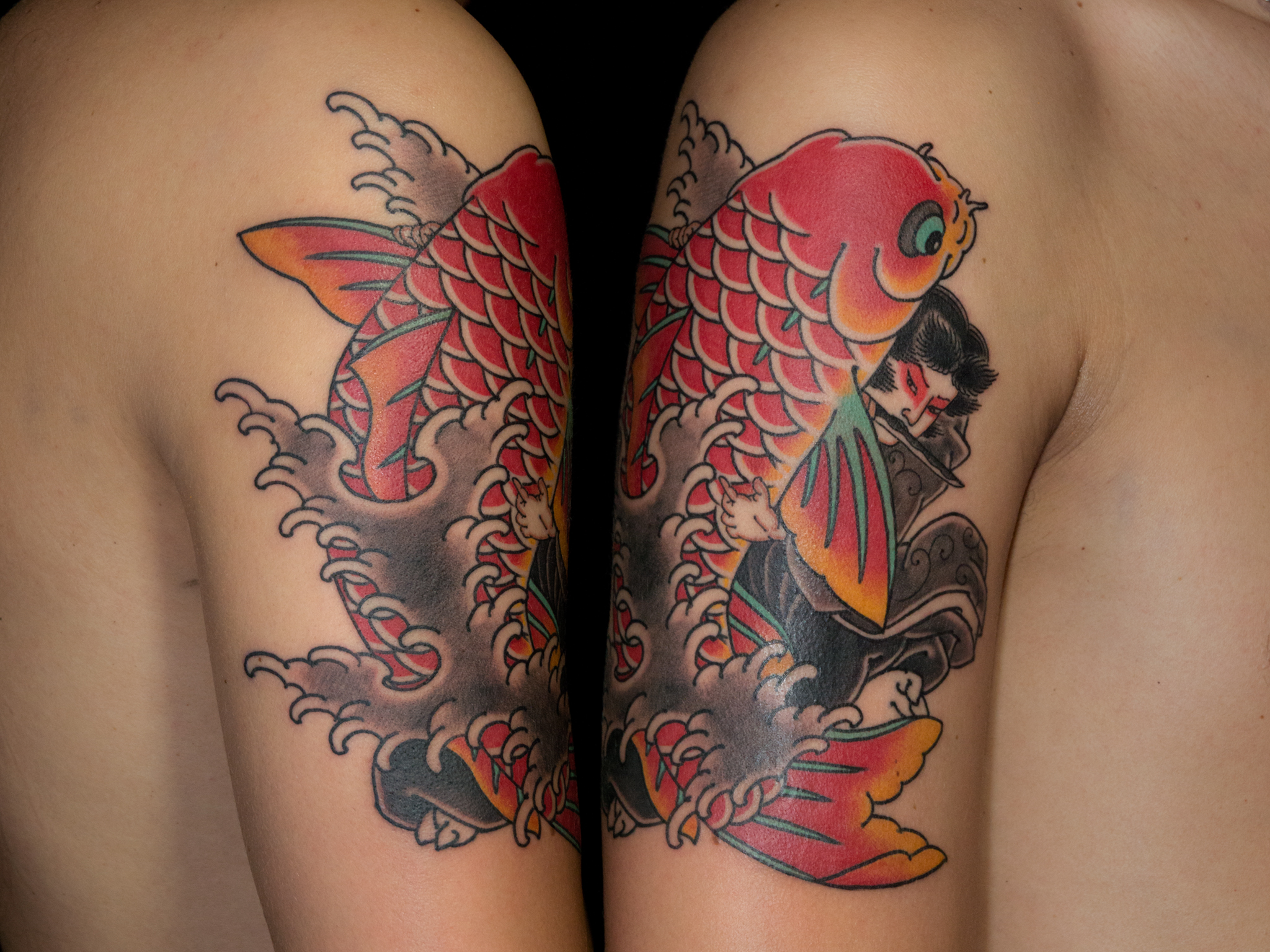 koi fish japanese tattoo