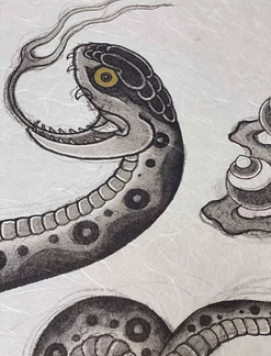 Snake painting