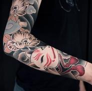 kistune sleeve tattoo