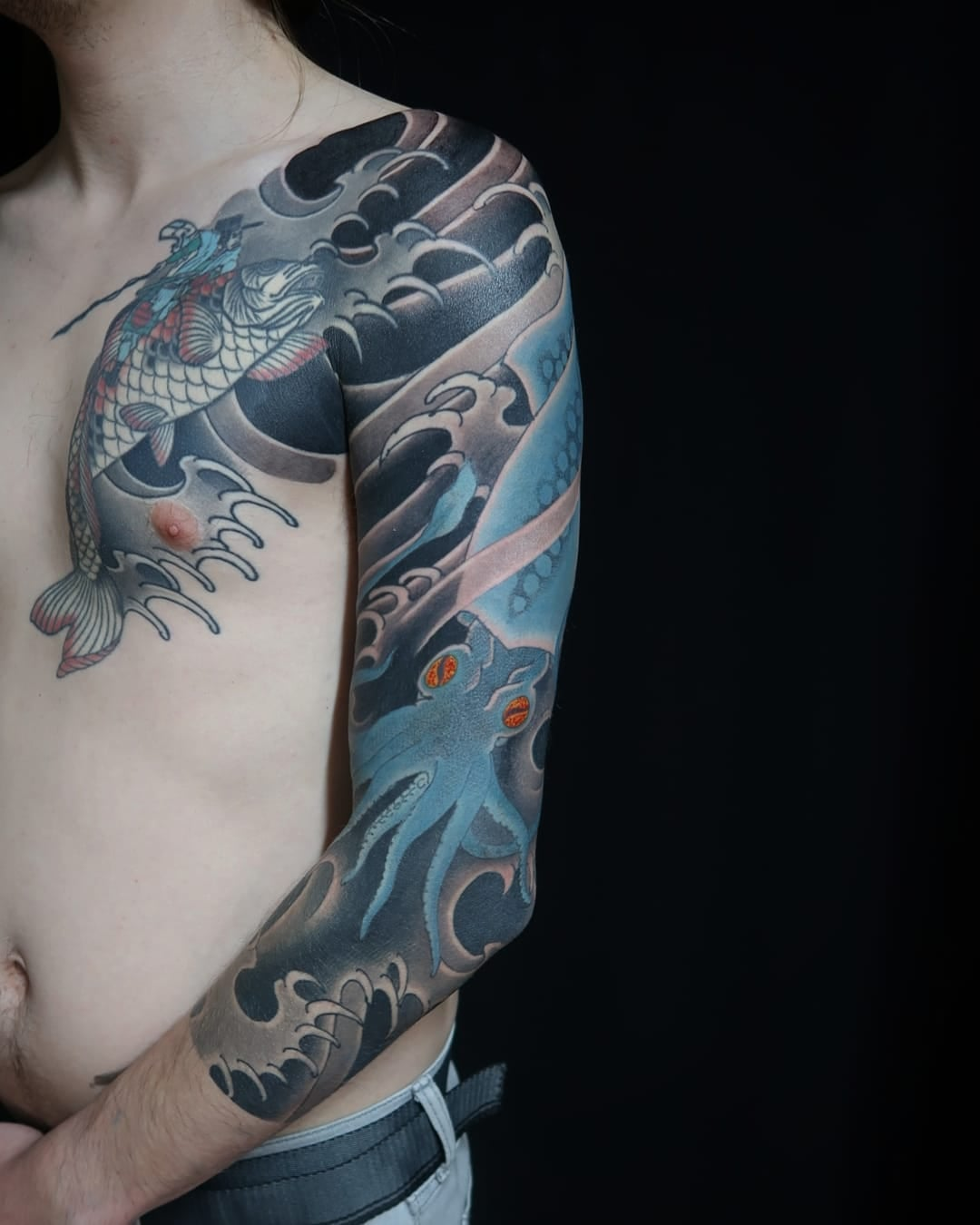 squid sleeve tattoo