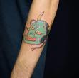 Hannya mask green