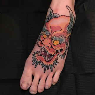 oni tattoo foot