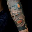Namanari mask tattoo
