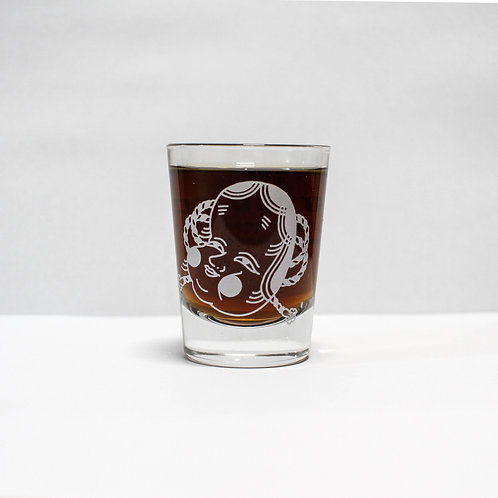 Shot glass - Okame