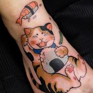 Cat tattoo manga japan