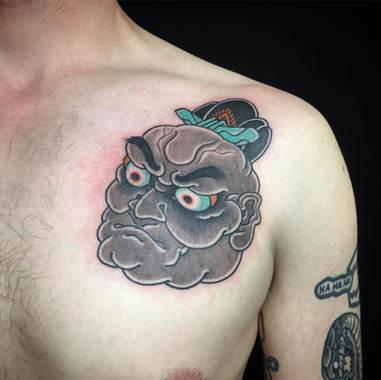 oni head tattoo
